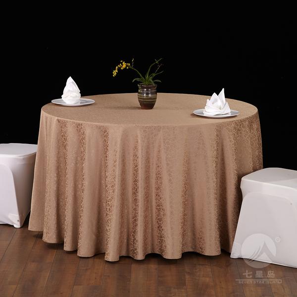 七星岛中餐布草巴伦桌布-