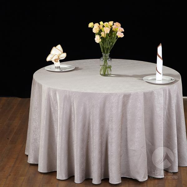 七星岛中餐布草雨幕桌布-
