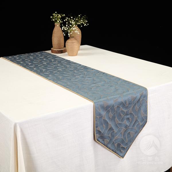七星岛三维桌旗-
