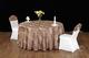 七星岛中餐布草色织水墨咖啡色 (1)