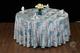 七星岛中餐布草色织水墨蓝色 (3)