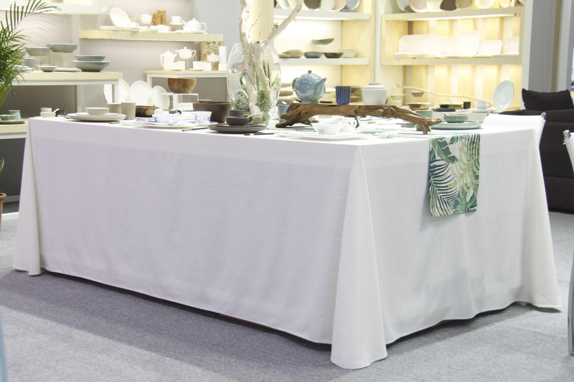 七星岛长方桌展示台桌布