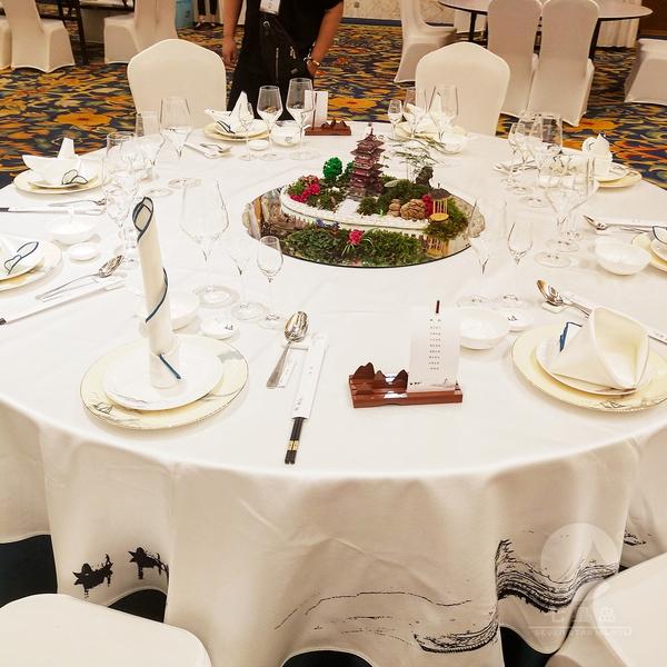 2018中餐宴会摆台布草-瓯韵-七星岛摆台比赛布草