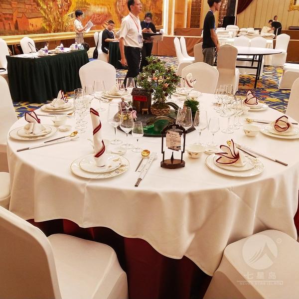 2018中餐宴会摆台布草-名扬四海-七星岛中餐厅布草