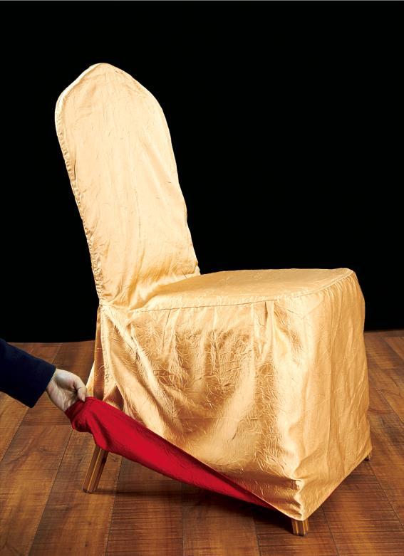 七星岛布艺双色绉布椅套