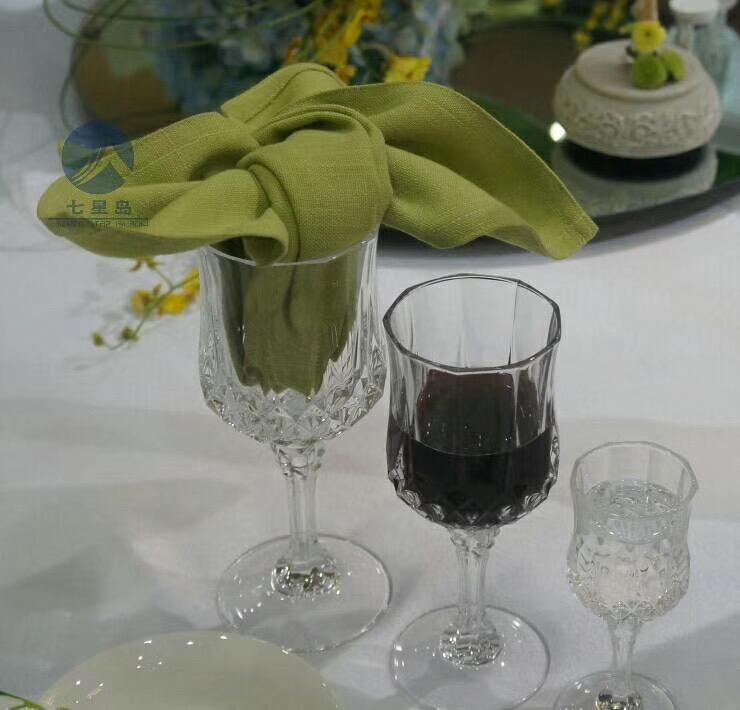 七星岛绿色口布杯花