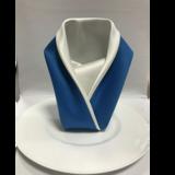 西式创意蓝色口布 -西式口布