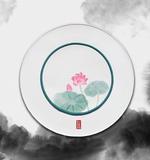 七星岛中式荷花缎面餐盘垫 -荷花餐垫