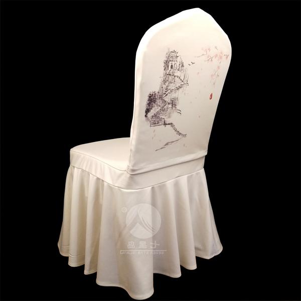 七星岛椅套装饰半身头套——桃花-七星岛椅套装饰