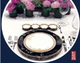 七星岛黄姐布艺解说之《香槟金色石榴花刺绣餐盘垫》