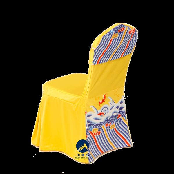宫廷宴金黄椅套-宫廷风