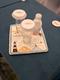 4以青岛栈桥、灯塔、海浪刺绣的咖啡杯垫,彩排发现太过花俏卡通未被使用,北辰临时通知赶做替代品