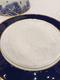 总统席位餐盘垫离开幕前一周临时赶制成白线刺绣海浪,原来的海蓝海蓝与餐具色太接近啦