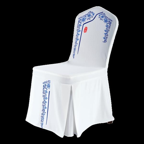 七星岛青花瓷免烫椅套专利椅套-七星岛青花瓷免烫椅套