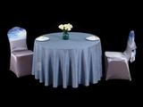 银蓝雨幕圆台布蓝台布蓝色调蓝桌布
