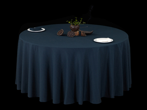 亚麻长格子亚麻桌布禅意桌布亚麻黛青桌布