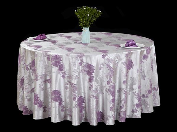 色织水墨紫文化桌布清新桌布涤棉桌布暖色调桌布缩水台布-