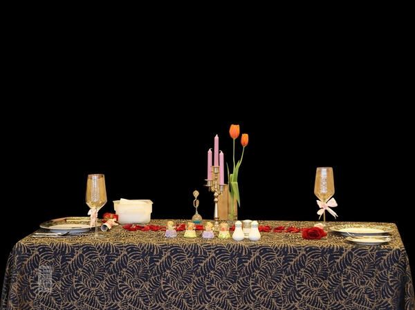 泰式风情紫金桌布长方桌布餐厅桌布西餐桌布-