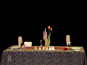 泰式风情紫金桌布长方桌布餐厅桌布西餐桌布