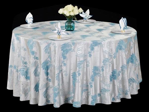 色织水墨蓝文化桌布清新桌布涤棉桌布冷色调桌布不缩水台布-