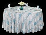 色织水墨蓝文化桌布清新桌布涤棉桌布冷色调桌布不缩水台布