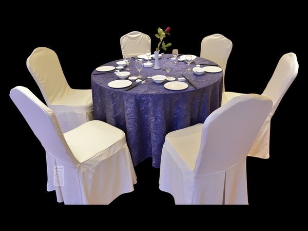 椰树紫餐厅桌布酒店桌布-