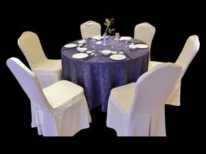 椰树紫餐厅桌布酒店桌布
