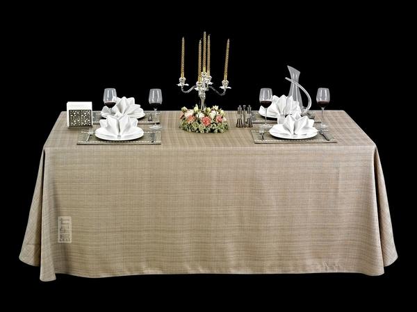 亚麻本色桌布亚麻方桌布仿麻桌布-