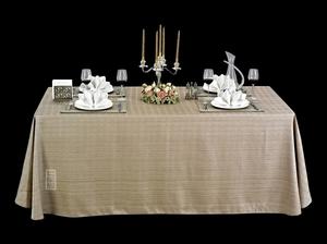 亚麻本色桌布亚麻方桌布仿麻桌布