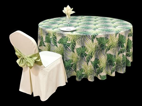热带风情主题桌布清新桌布绿桌布绿台布-