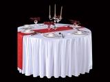 贡丝锦漂白圆台布五星酒店白桌布宴会白台布漂白台布