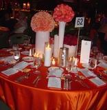 仿真丝赤红桌布火红桌布婚宴桌布