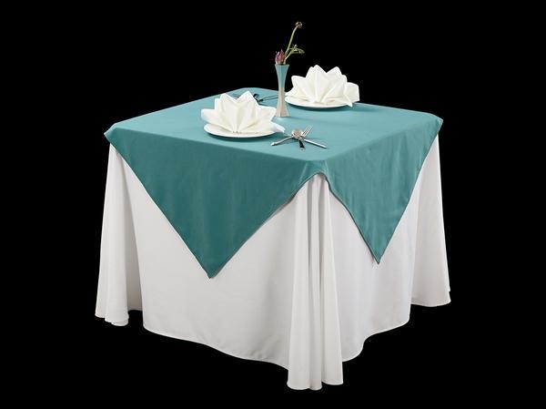 棉感绿西式台布西餐台布亚麻台布-