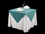 棉感绿西式台布西餐台布亚麻台布
