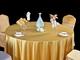 46、贡丝锦金黄圆台布金色桌布-2