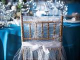 仿真丝海蓝桌布海洋桌布流行色桌布时尚桌布西式婚宴