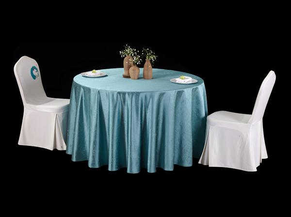 星空水蓝圆台布好垂感台布时尚台布宴会流行色-