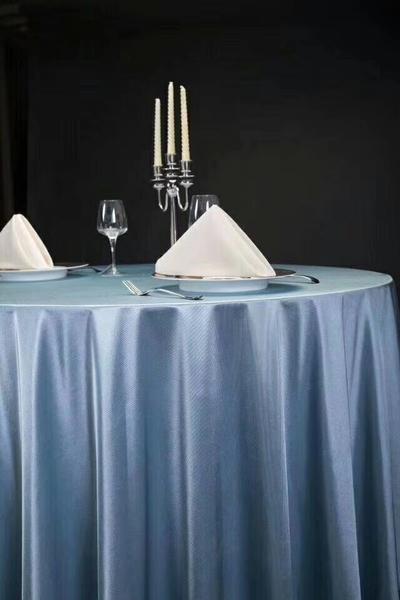 贡丝锦珐琅蓝桌布西式桌布不缩水桌布蓝台布-