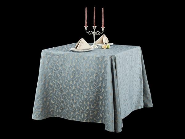 三维钴蓝时尚桌布涤棉桌布色织桌布-