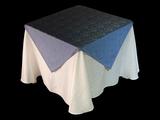 亚麻蓝灰台布西餐桌布西式桌布棉麻台布仿麻台布