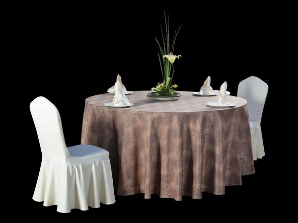 非洲热带图花咖台布卡布基诺台布商务宴会-