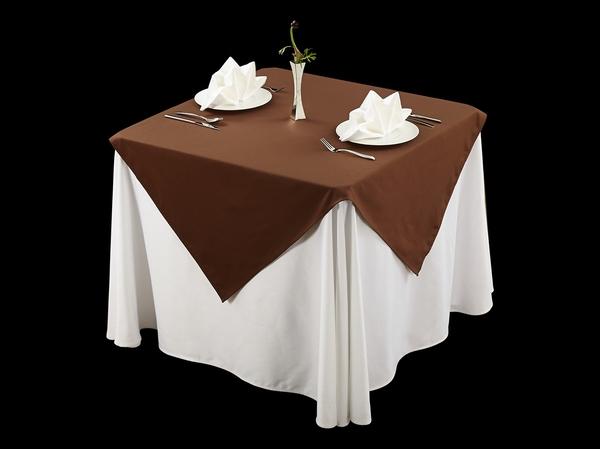 棉感咖西式桌布涤棉台布不缩水桌布-