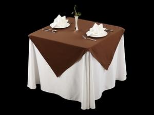 棉感咖西式桌布涤棉台布不缩水桌布