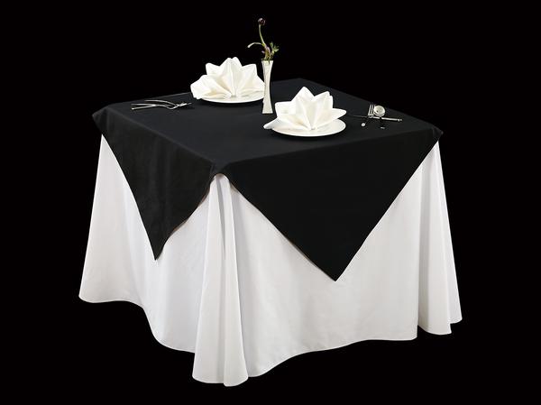 棉感黑亚麻细纹方圆角桌布亚麻桌布方圆桌布-