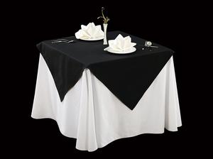棉感黑亚麻细纹方圆角桌布亚麻桌布方圆桌布
