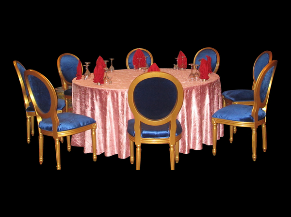 粉红蔷薇绉布桌布自然皱桌布粉红桌布婚宴布草-