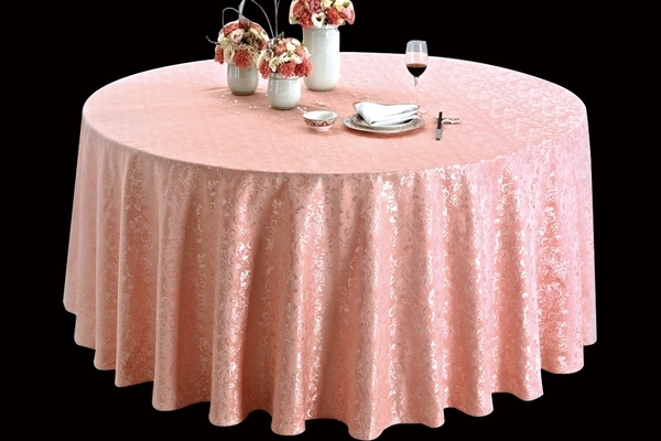 天香湛露樱花粉圆台布清新桌布婚宴桌布-