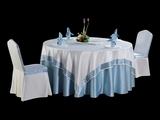双面缎本白镶边方台布淡雅桌布