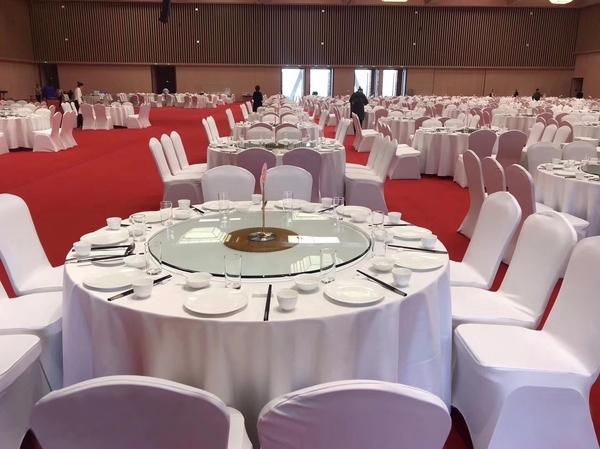 双面缎本白圆台布缎面桌布宴会白桌布宴会厚台布-