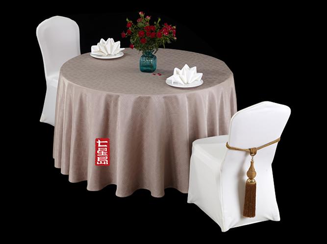 七星岛满天星偏卡其高级桌布高档桌布